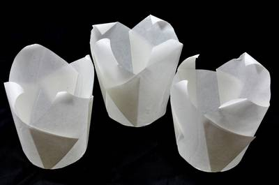 White Folded Cups 150x50mm (200)
