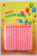 Candle Candy Striped Pink 60mm (24)
