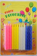 Candle Twist Assorted Colour 60mm (24)