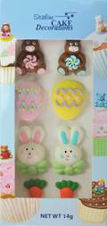 Easter (2D Assorted Icing - Packet of 8)