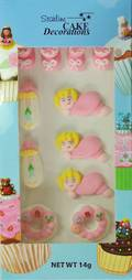Baby Girl Collection, 2D Assorted Icing Items (Retail Box 11) - SOLD OUT SHIPMENT ON HOLD