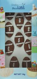 Rugby Balls, 2D Icing (Retail Box of 10)