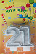 Candle 21 Numeral Silver