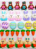 Easter Collection, Assorted 2D Icing Items (45) - SOLD OUT SHIPMENT ON HOLD
