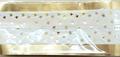 Cake Band Star White/Gold 63mm (1m)