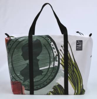 Recycled Billboard Bag - large gear 30530