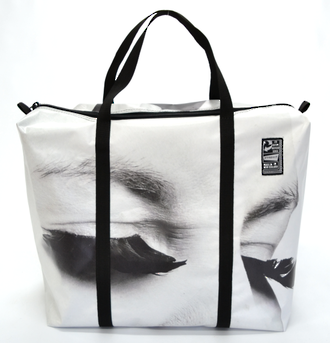 Recycled Billboard Bag - large gear 30573