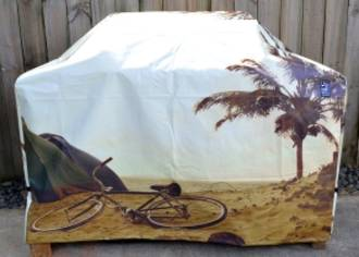 Hooded BBQ Cover Recycled Billboard Medium 80083