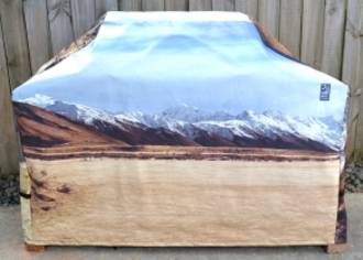 Hooded BBQ Cover Recycled Billboard Medium 80085