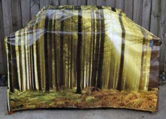 Hooded BBQ Cover Recycled Billboard Large 80089
