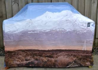 Hooded BBQ Cover Recycled Billboard Medium 80093