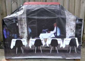Hooded BBQ Cover Recycled Billboard Medium 80094