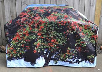 Hooded BBQ Cover Recycled Billboard Medium 80103