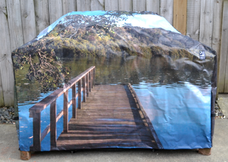 Hooded BBQ Cover Recycled Billboard Medium 80109