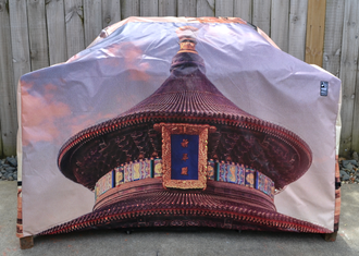 Hooded BBQ Cover Recycled Billboard Large 80114