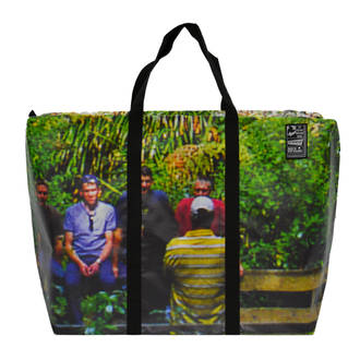 Recycled Billboard Bag - large gear 04113