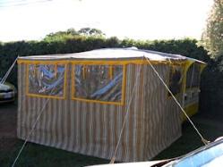 retro caravan awning lge