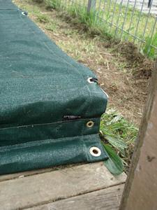 sandpit cover close up