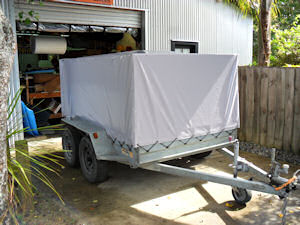 pvc cover on tandem trailer