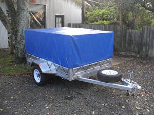 pvc trailer cage cover blue small