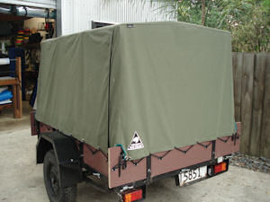 trailer cover canvas on frame