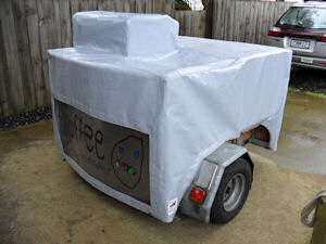 trailer cover coffee cart
