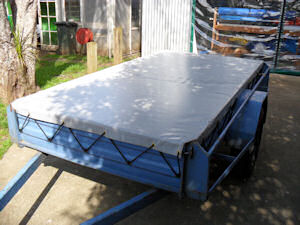trailer cover flat grey