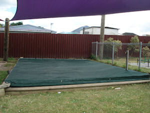 sandpit cover with shade sails 1