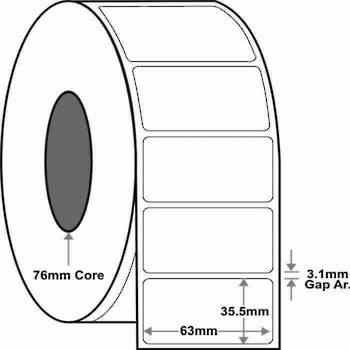 63x35.5mm x4,000 labels