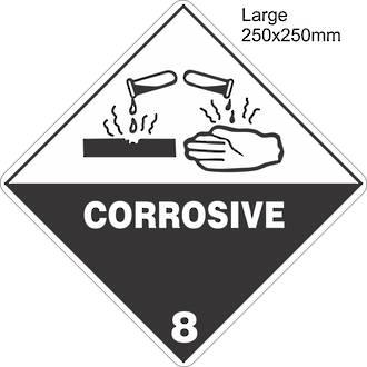 Corrosive 8 Large Vinyl Single Labels