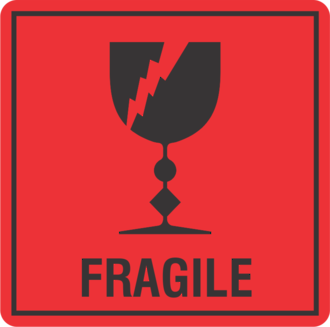 Fragile x500 labels