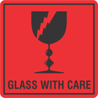 Glass With Care x500 labels