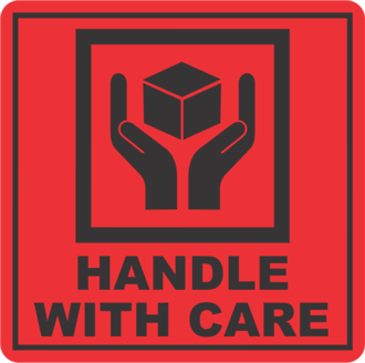 Handle With Care x500 labels