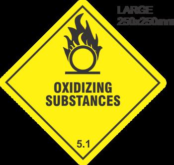 Oxidizing Substances Large Vinyl Single Labels