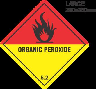 Organic Peroxide Large Vinyl Single Labels