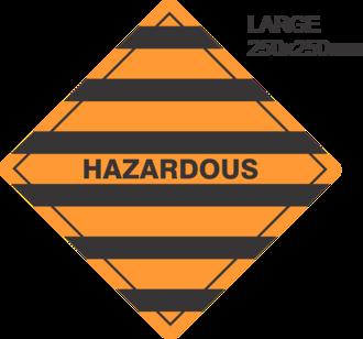 Hazardous Large Vinyl Single Labels