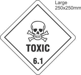 Toxic 6 Large Vinyl Single Labels