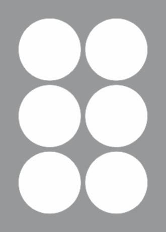 6 Labels per sheet 80mm Circle x100 sheets