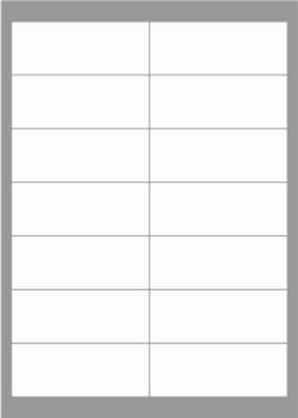 14 Labels per sheet 98x38mm x100 sheets