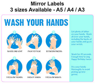 Wash Your Hands for Mirrors