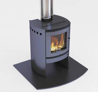 Bosca Spirit 550 Black Fireplace
