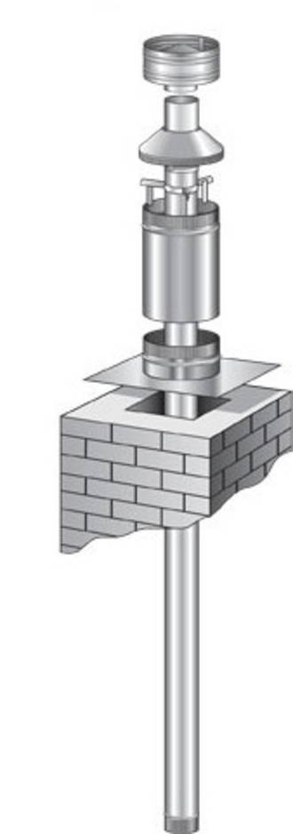 Masonry Chimney 4m Flue Kit Stainless Steel