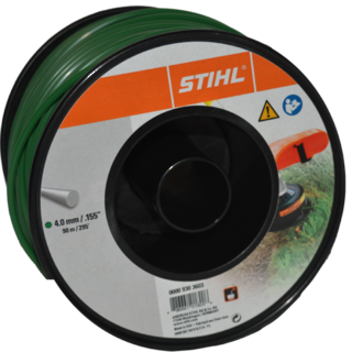 STIHL Round Nylon 4mm Dark Green - 90m