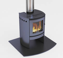 Bosca Spirit 550 Black Fireplace