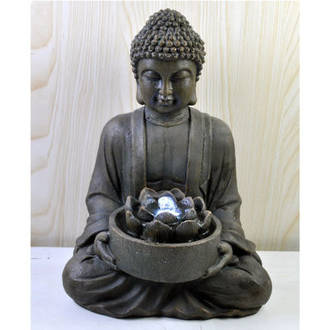 Tabletop - Buddha with Lotus Flower