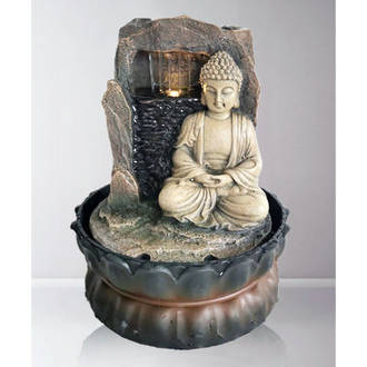 Tabletop - Buddha Sitting by Waterfall