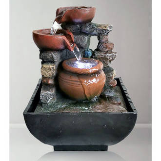 Tabletop Fountain - Urns with Flowing Water