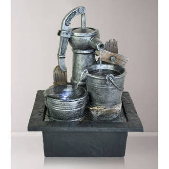 Tabletop  Fountain - Hand Pump with Buckets