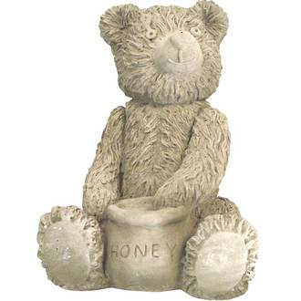Teddy Bear Sitting with Honey Pot