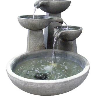 Tiered Bowls with Round Reservoir